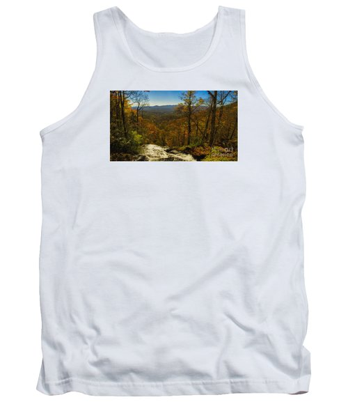 Tank Top featuring the photograph Top Of Amicola Falls by Barbara Bowen