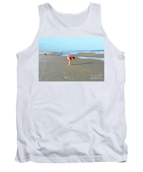 Topsail Island Beach Tank Top by Eva Kaufman