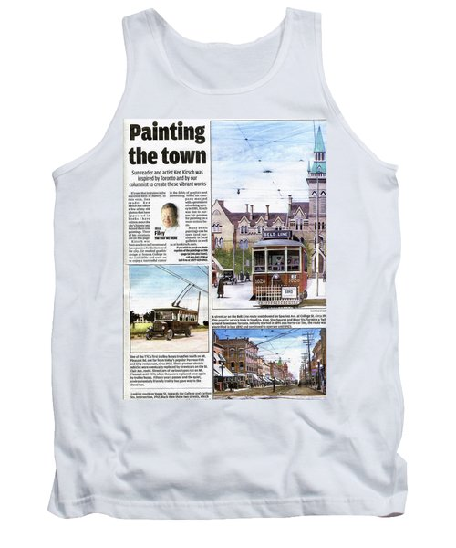 Tank Top featuring the painting Toronto Sun Article Painting The Town by Kenneth M Kirsch