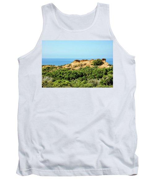 Torrey Pines California - Chaparral On The Coastal Cliffs Tank Top