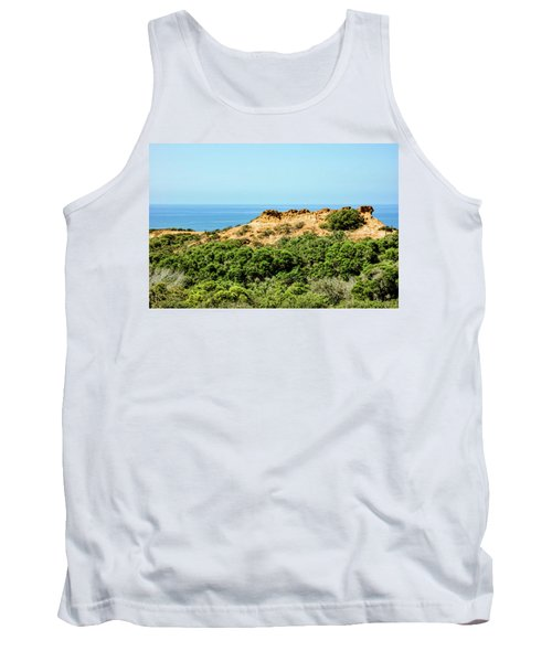 Torrey Pines California - Chaparral On The Coastal Cliffs Tank Top