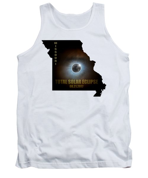 Total Solar Eclipse In Missouri Map Outline Tank Top