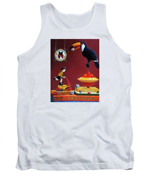 Tank Top featuring the painting Toucan Play At This Game by Linda Apple
