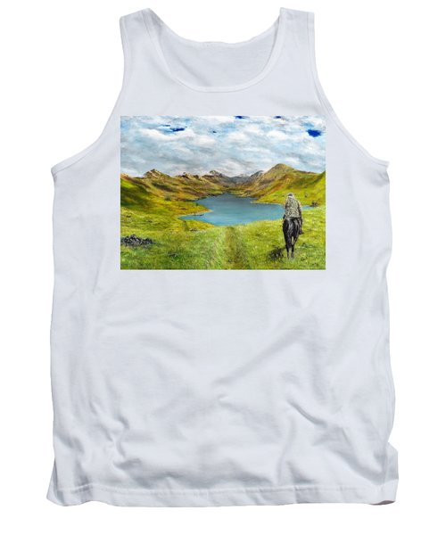 Tank Top featuring the painting Tracking Niseag by Kevin Daly