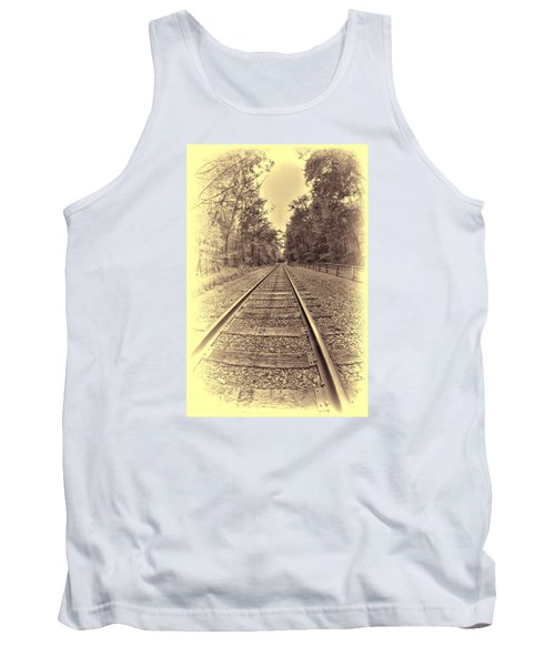 Tank Top featuring the digital art Tracks Through The Park by Dennis Lundell