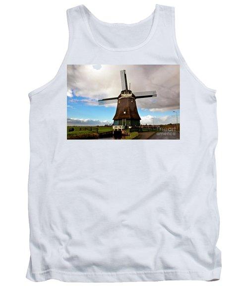 Traditional Dutch Windmill Near Volendam  Tank Top