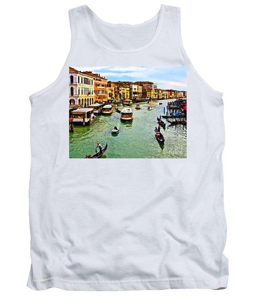 Traghetto, Vaporetto, Gondola  Tank Top by Tom Cameron