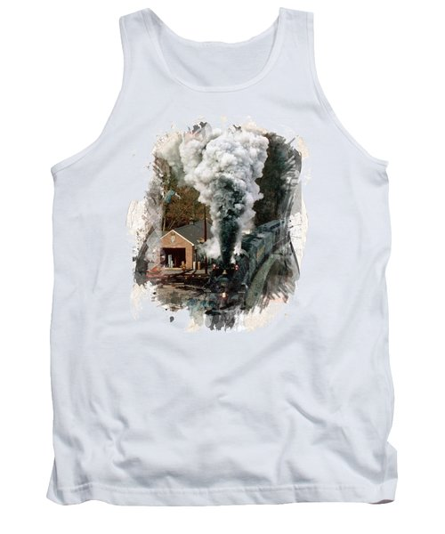 Train Days Tank Top by Florentina Maria Popescu