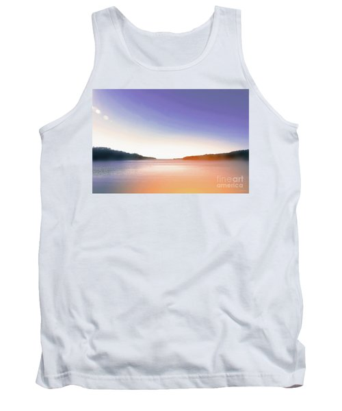 Tranquil Afternoon At The Lake Tank Top