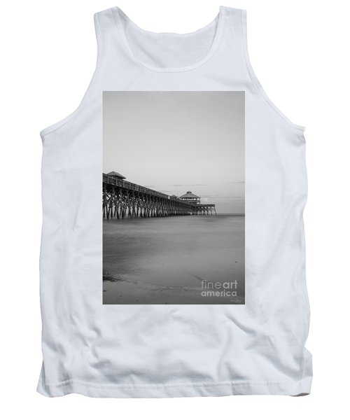 Tranquility At Folly Grayscale Tank Top by Jennifer White