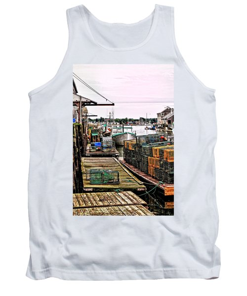 Traps Portland Maine Tank Top by Tom Prendergast