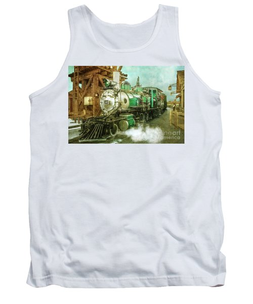 Traveling By Train Tank Top by Claudia Ellis