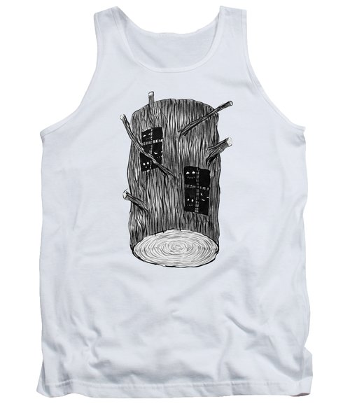 Tree Log With Mysterious Forest Creatures Tank Top