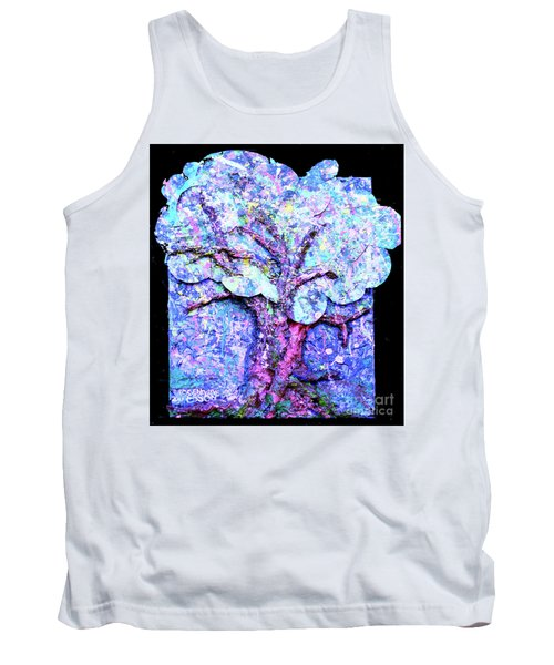 Tank Top featuring the painting Tree Menagerie by Genevieve Esson