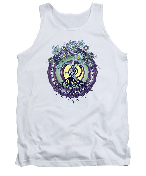Tree Of Enlightenment Abstract Tank Top by Deborah Smith