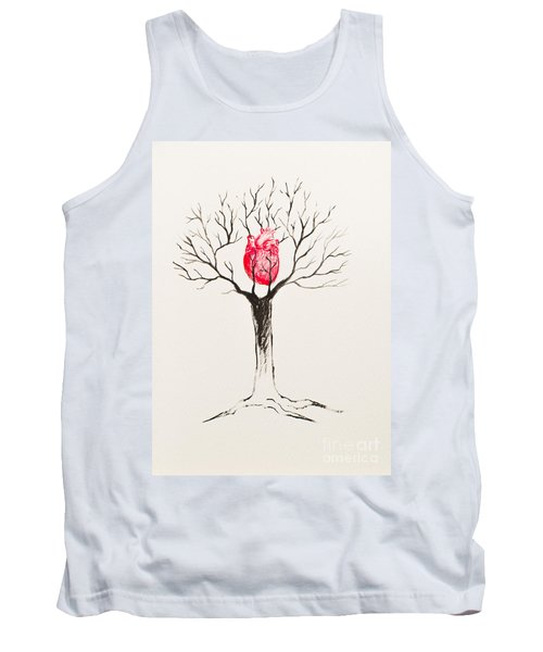 Tree Of Hearts Tank Top by Stefanie Forck