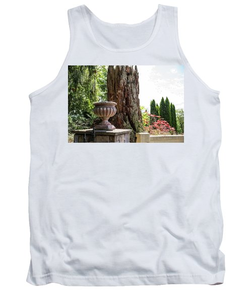 Tree Stump And Concrete Planter Tank Top
