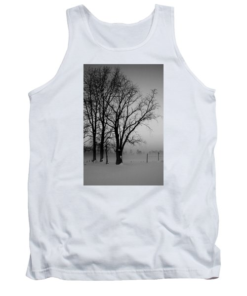 Tank Top featuring the photograph Trees In The Fog by Karen Harrison