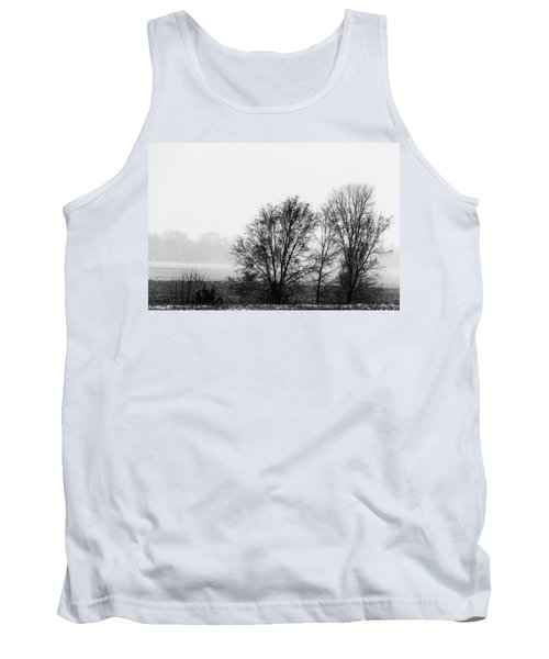 Trees In The Mist Tank Top by Jay Stockhaus