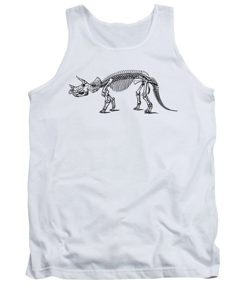 Triceratops Dinosaur Tee Tank Top by Edward Fielding