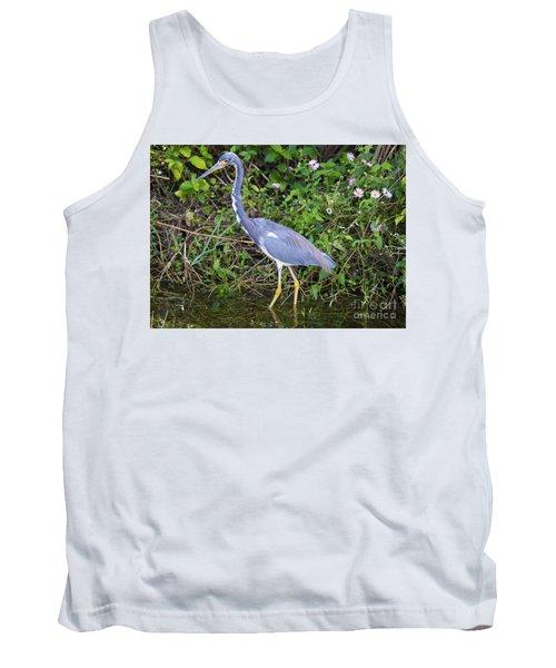 Tricolored Heron Hunting Tank Top