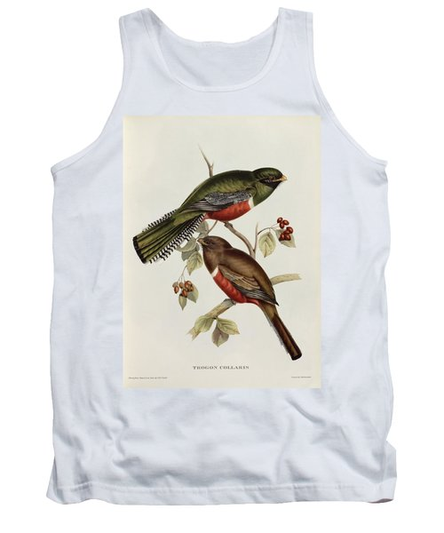Trogon Collaris Tank Top by John Gould