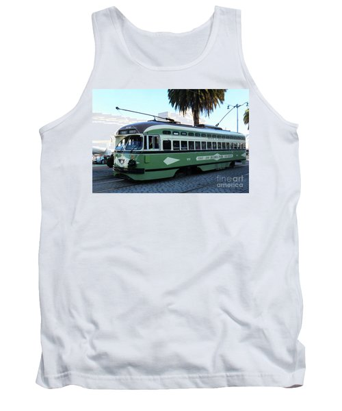 Tank Top featuring the photograph Trolley Number 1078 by Steven Spak