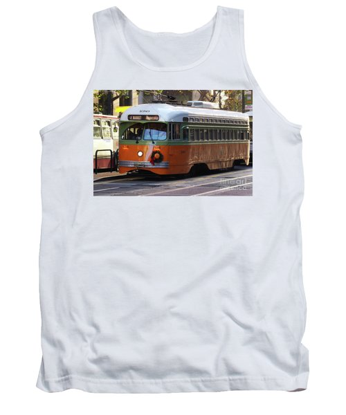 Tank Top featuring the photograph Trolley Number 1080 by Steven Spak