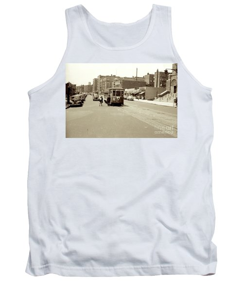 Tank Top featuring the photograph Trolley Time by Cole Thompson