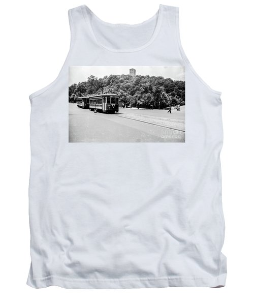 Tank Top featuring the photograph Trolley With Cloisters by Cole Thompson