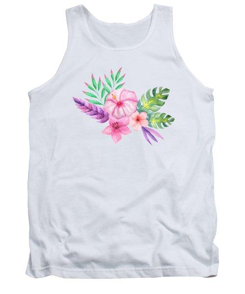 Tropical Watercolor Bouquet 1 Tank Top