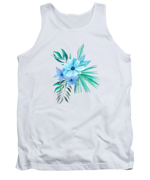 Tropical Watercolor Bouquet 10 Tank Top