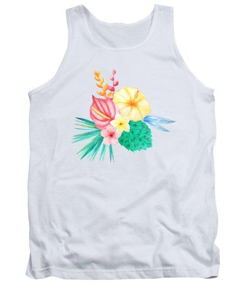 Tropical Watercolor Bouquet 2 Tank Top