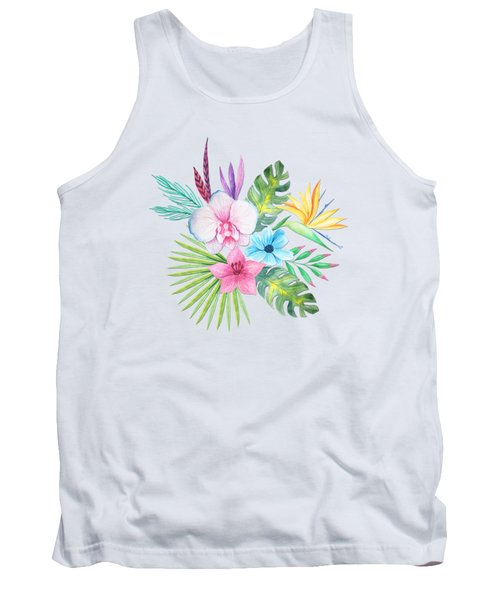 Tropical Watercolor Bouquet 3 Tank Top