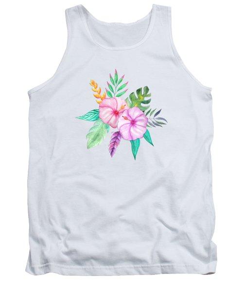 Tropical Watercolor Bouquet 78 Tank Top