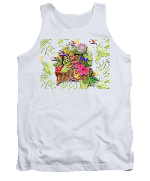 Tropicals In A Basket Tank Top by Larry Bishop