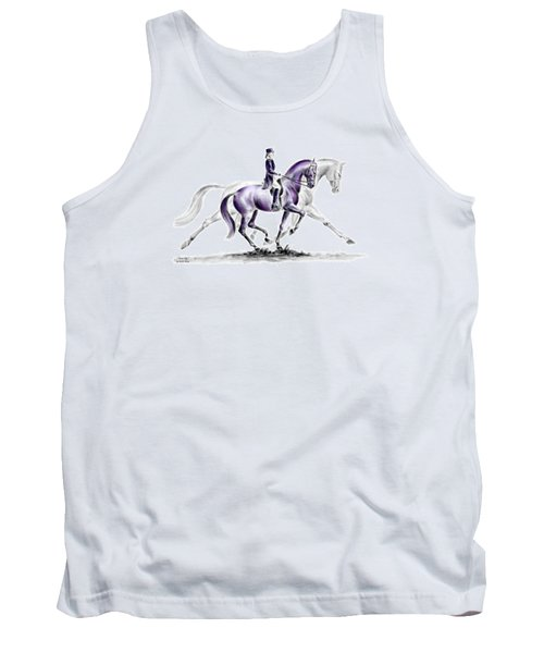 Trot On - Dressage Horse Print Color Tinted Tank Top by Kelli Swan