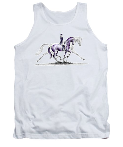 Trot On - Dressage Horse Print Color Tinted Tank Top
