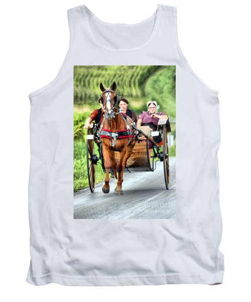 Tank Top featuring the photograph Trotting Along by Polly Peacock
