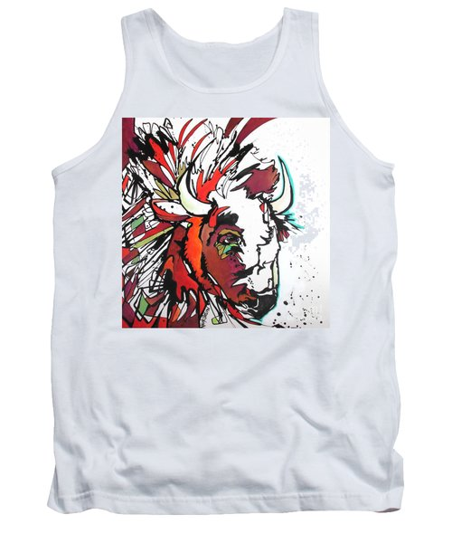 Tank Top featuring the painting Trouble by Nicole Gaitan
