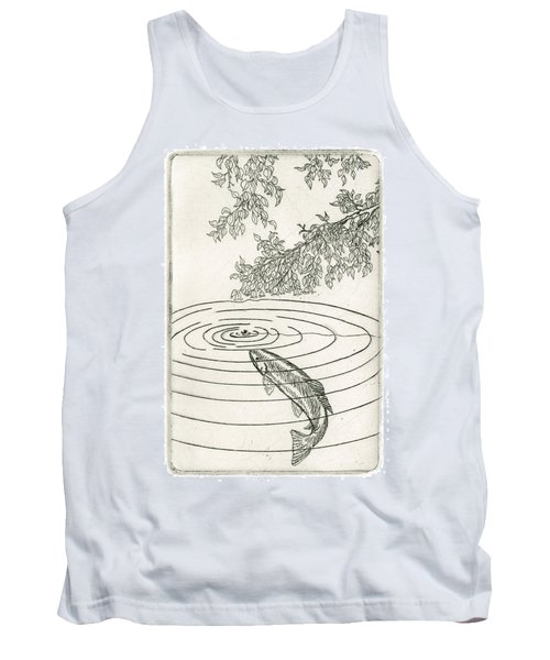 Trout Rising To Dry Fly Tank Top