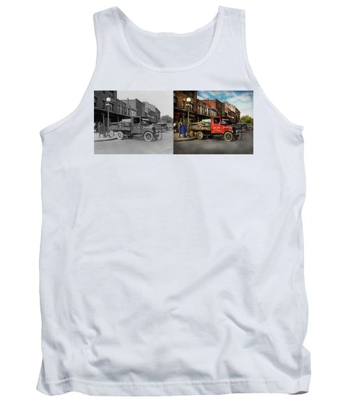 Tank Top featuring the photograph Truck - Home Dressed Poultry 1926 - Side By Side by Mike Savad