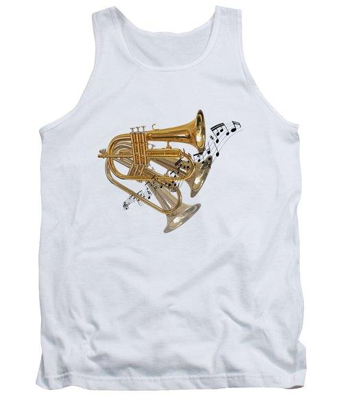 Trumpet Fanfare Tank Top by Gill Billington