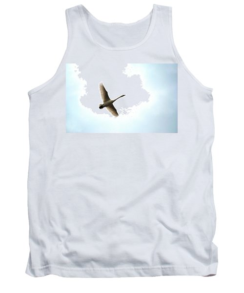 Trumpeter Swan In Flight Tank Top