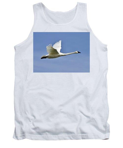 Trumpeter Swan In Flight Tank Top