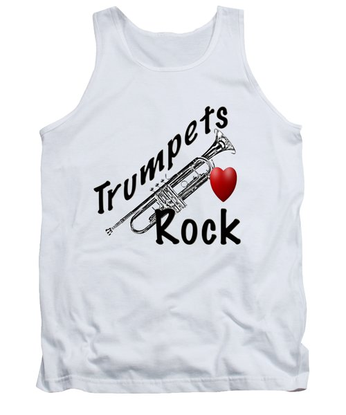 Trumpets Rock Tank Top by M K  Miller