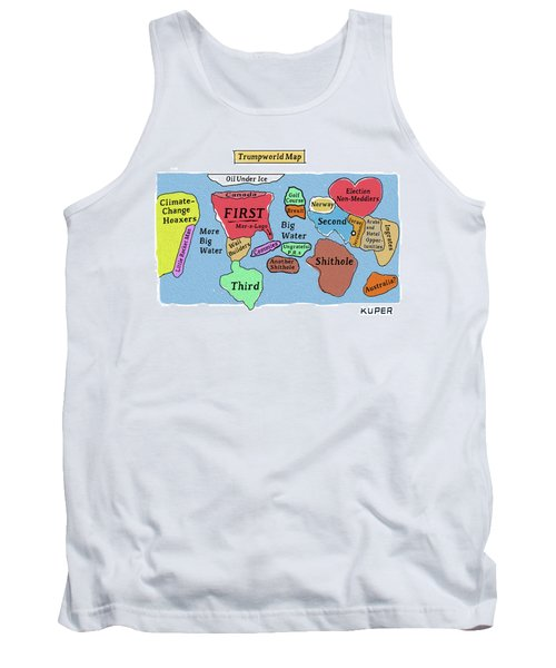 Trumpworld Map Tank Top