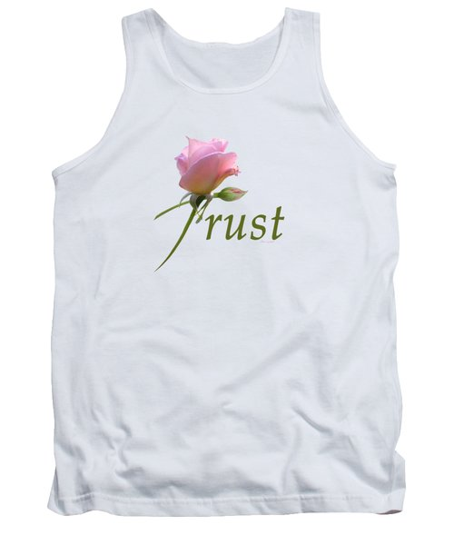 Tank Top featuring the digital art Trust by Ann Lauwers
