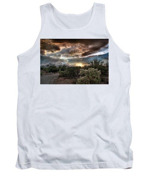 Tucson Mountain Sunset Tank Top