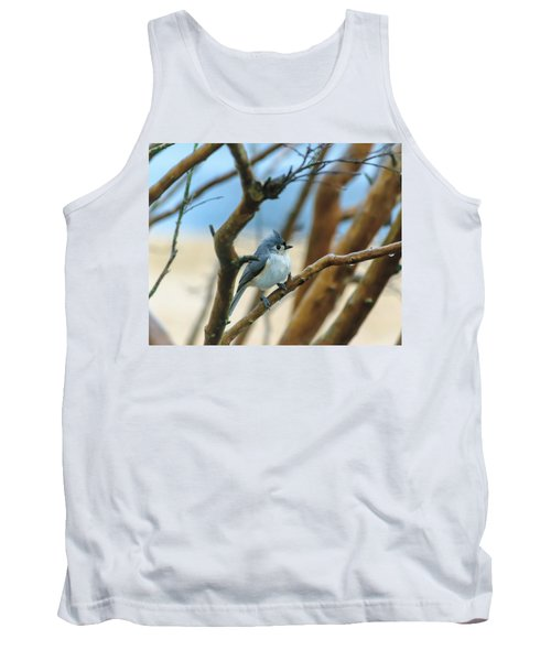 Tufted Titmouse In Tree Tank Top